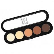 Палитра теней, 5 цветов Make-up Atelier Paris T05 рыже-коричневые тона: фото