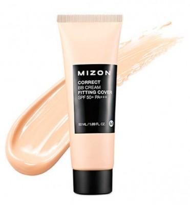 ВВ-крем корректирующий антивозрастной MIZON Correct BB-Cream Fitting Cover SPF 50+ PA+++: фото
