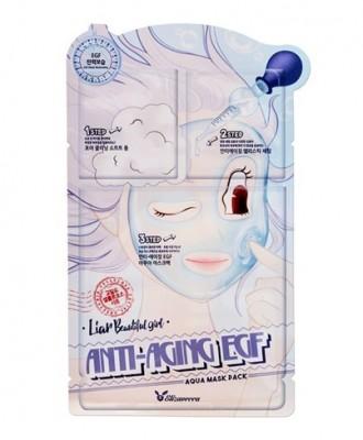 Маска трехступенчатая антивозрастная ELIZAVECCA Anti-Aging EGF Aqua Mask Pack: фото