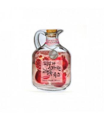 Маска тканевая с гранатом Baviphat Pomegranate Juicy Mask Sheet Lifting & Bright 23г: фото