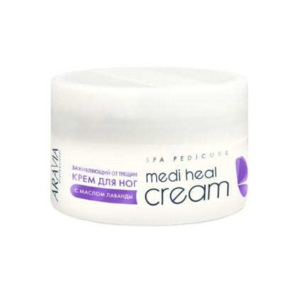 Крем от трещин регенерирующий с маслом лаванды Aravia Professional Medi Heal Cream 150 мл: фото