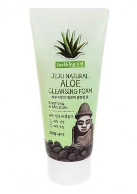 Пенка для умывания Welcos Jeju Natural Aloe Cleansing Foam 120г: фото