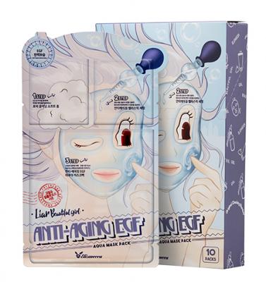 Маска трехступенчатая антивозрастная ELIZAVECCA Anti-Aging EGF Aqua Mask Pack 10 шт: фото