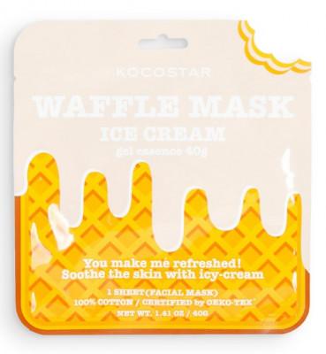 Маска вафельная смягчающая с натуральной ванилью Кocostar Waffle Mask Ice Cream 40 г: фото