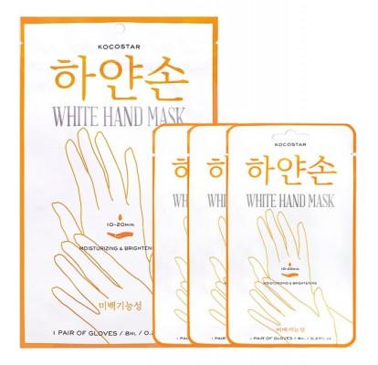 Набор масок для рук восстанавливающих Kocostar White Hand Mask 3 pairs 8 мл х 3 шт: фото