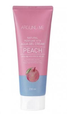 Крем-гель для тела с экстрактом персика WELCOS AROUND ME Natural Perfume Vita Aqua Gel Cream Peach 250мл: фото