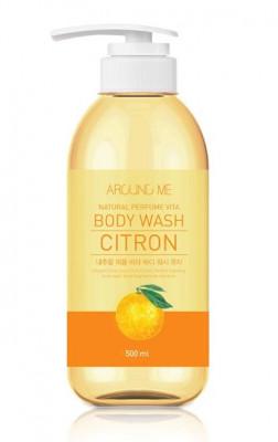 Гель для душа с экстрактом цитрона Welcos AROUND ME Natural Perfume Vita Body Wash Yuja 500мл: фото