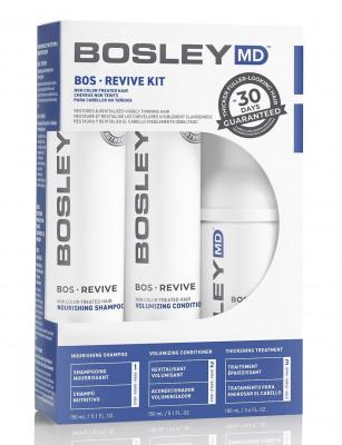 Система от выпадения и для стимуляции роста волос (для неокрашенных волос) BosRevive Non Color-Treated Hair 30 Day Kit 2*150мл+100мл: фото
