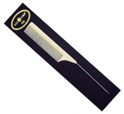Расческа силиконовая с металлическим хвостиком Eurostil PRO-50 25,5см: фото