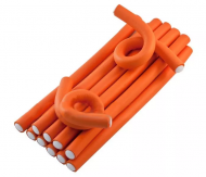 Бигуди-бумеранги Sibel 25смх17мм оранжевые 12шт: фото