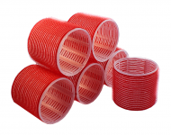 Бигуди на липучке Sibel 70мм красные 6шт: фото