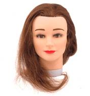 """Голова учебная """"шатенка"""" Sibel STUDENT (натуральные волосы, 35-40см): фото"""